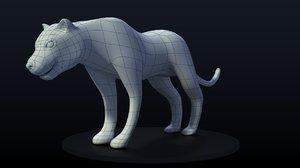 panther 3d obj