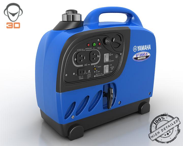 portable power generator 3d model