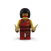 lego ninja girl 3d model
