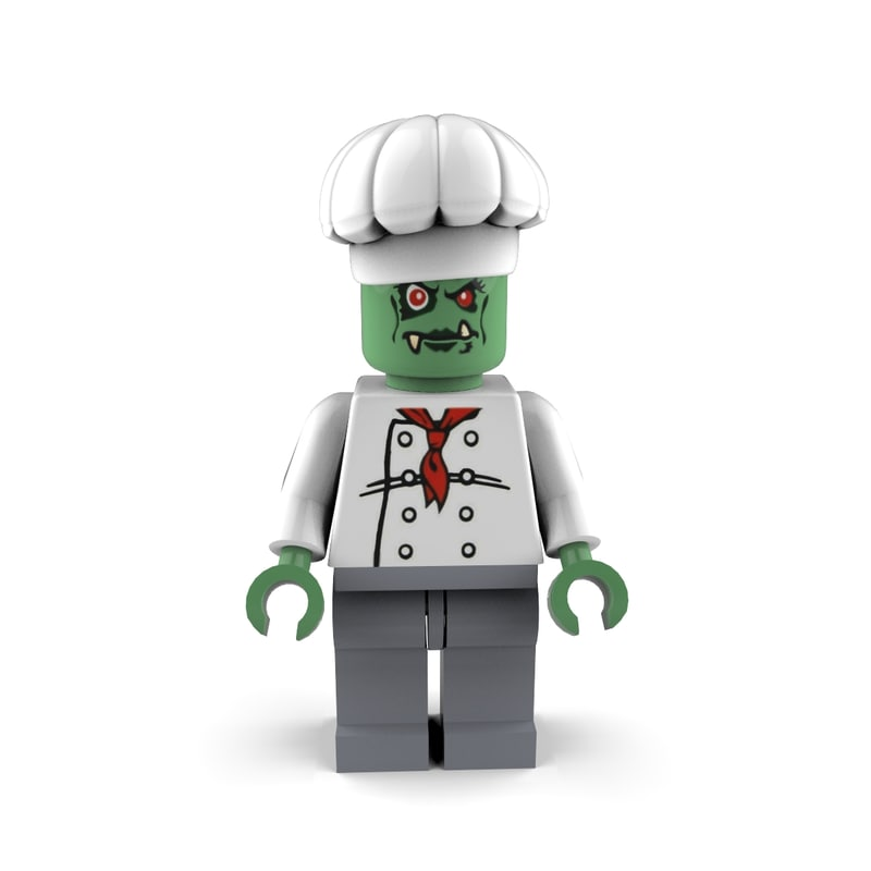 zombie chef 3d c4d
