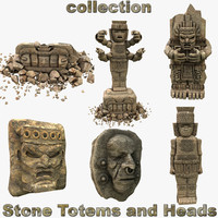 Stone Totems and Heads