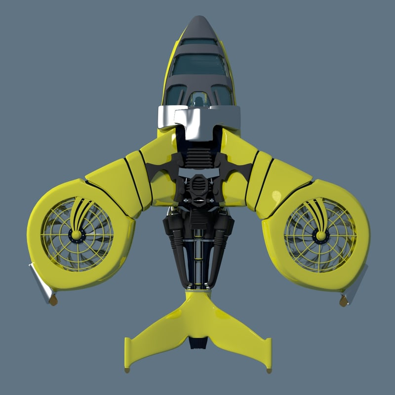 copter helicopter 3d model