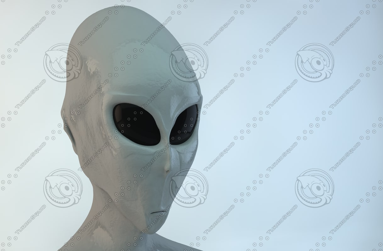 3d model of alien head