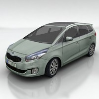 kia carens car 3d model
