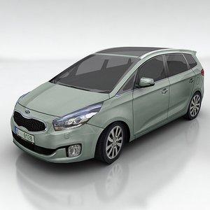 kia carens car 3d model
