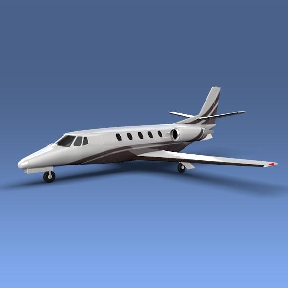 3d model cessna citation xls private jet