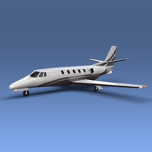 3d model cessna citation xls private jet