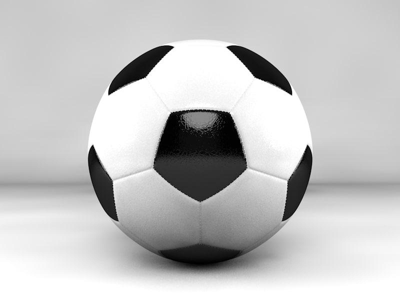 c4d football soccer ball