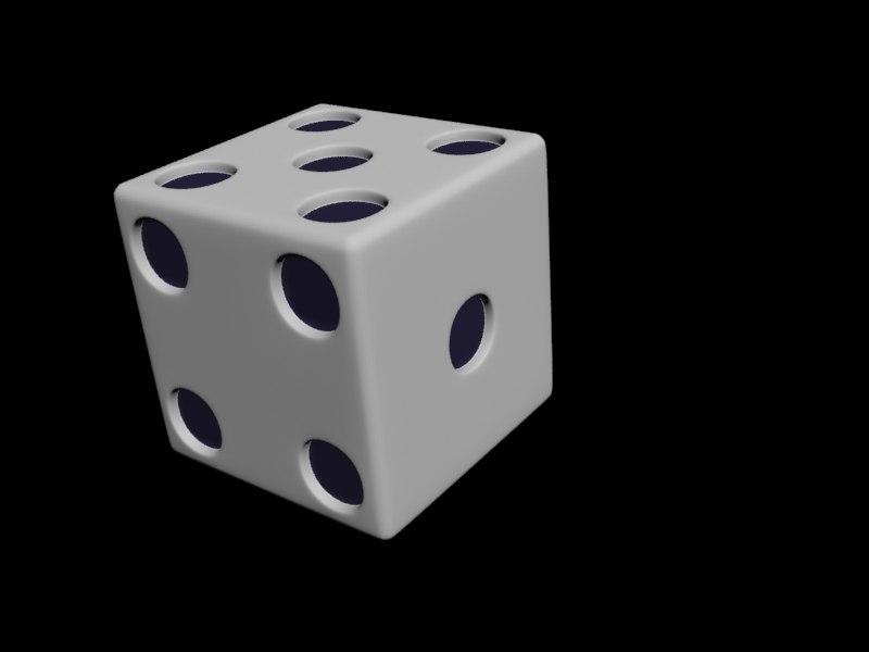 dice roll 3d model