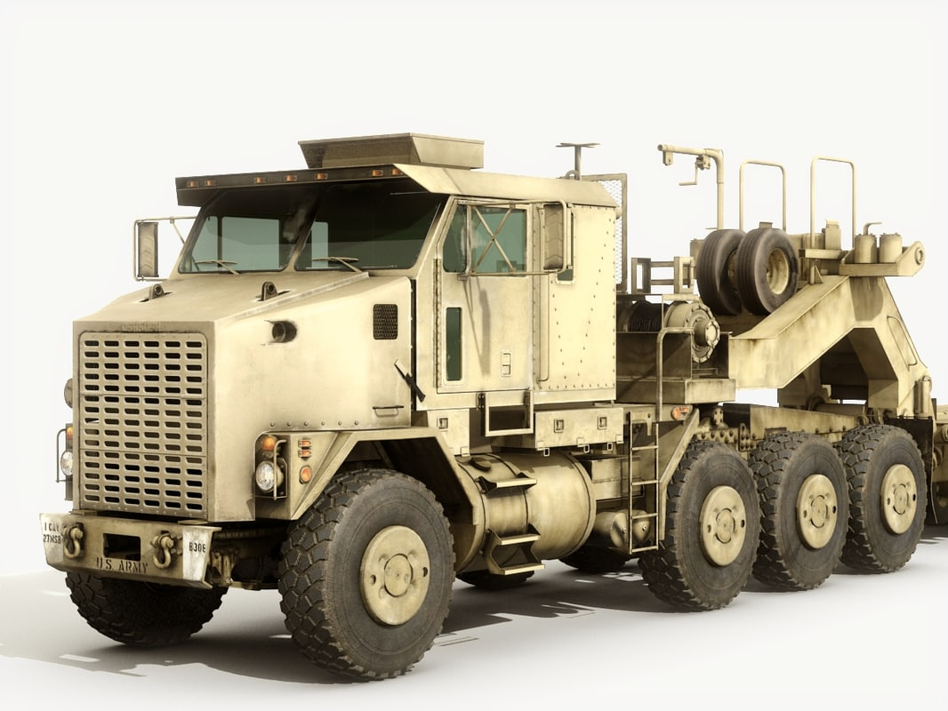 Oshkosh F heavy equipment transporter is in service with the British Army. It is a much revised version of the M It is a much revised version of the M It is fitted with more powerful engine, new cab and has revised driveline components.