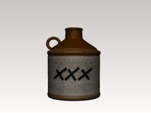 3d moonshine jug