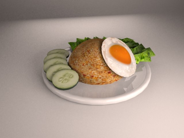 nasi goreng 3d model