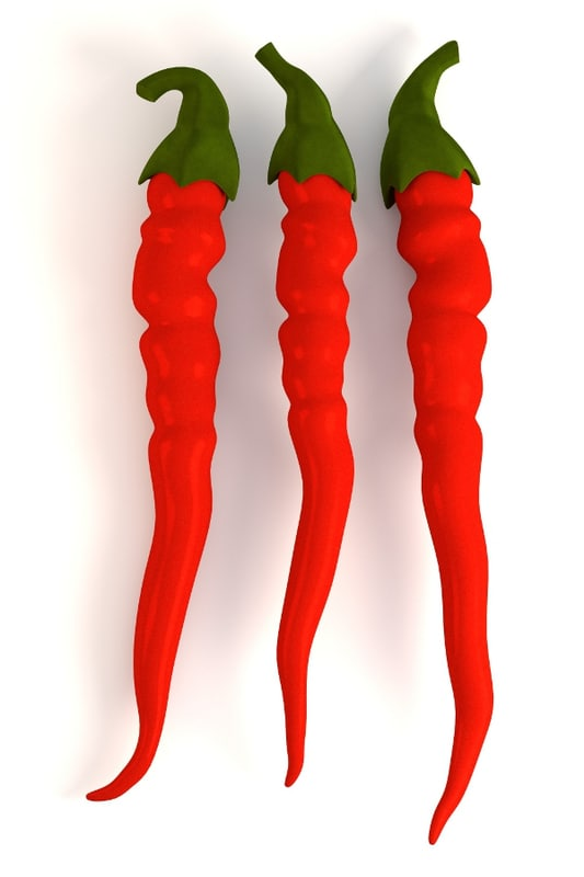 3d chilli pepper