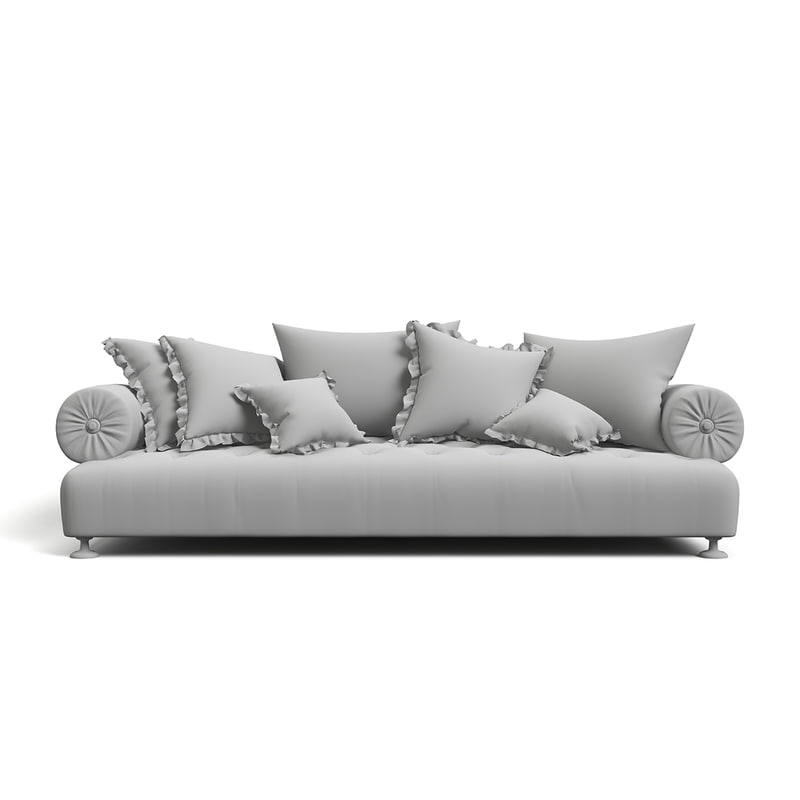 3d model classic sofa provasi richard
