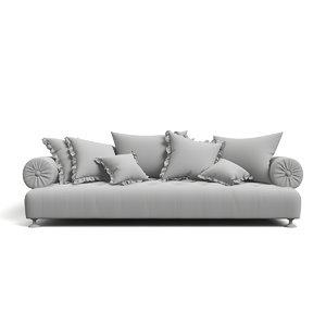 3d model classic sofa provasi richard
