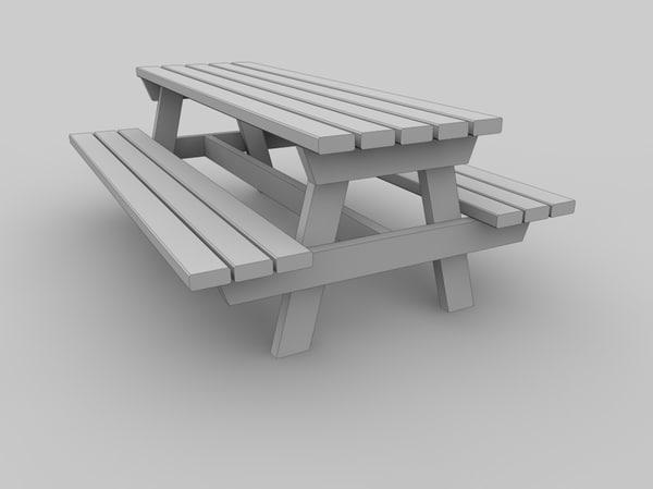 free c4d mode picnic table