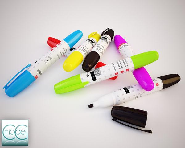marker pen 3d 3ds