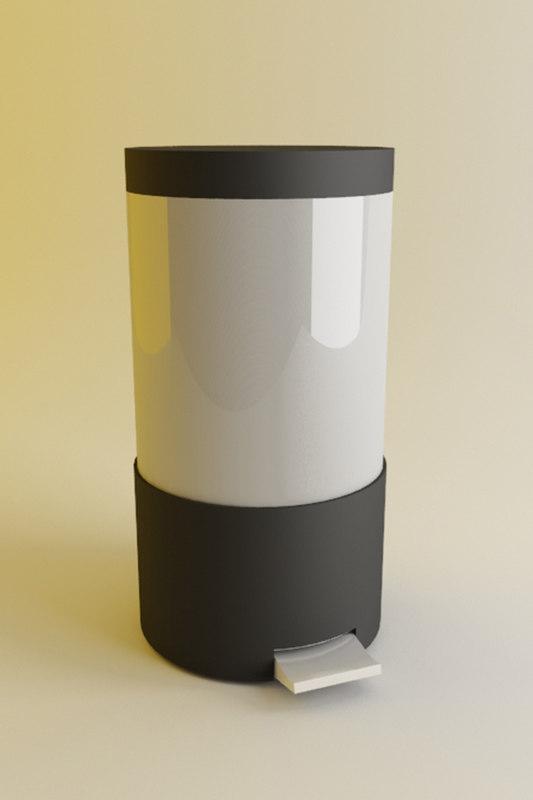 bin metal plastic 3d model