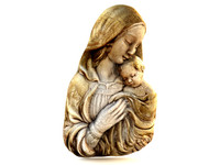 3d model of decorative virgin mary baby