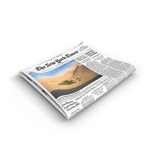 folded newspaper 3d 3ds