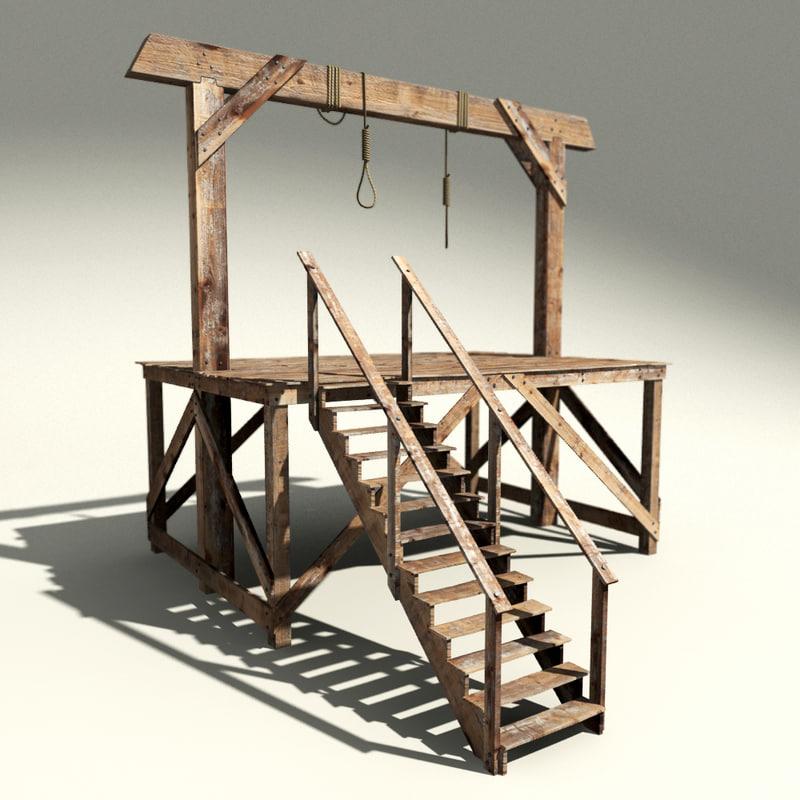 3d hangman s gallows model