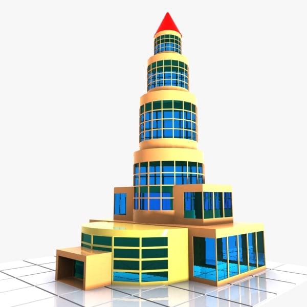 3d model of cartoon apartment toon