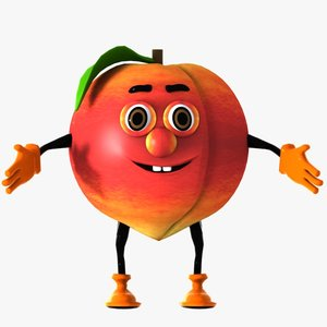 peach character 3d model