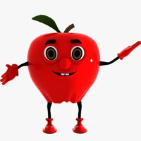 3dsmax apple character