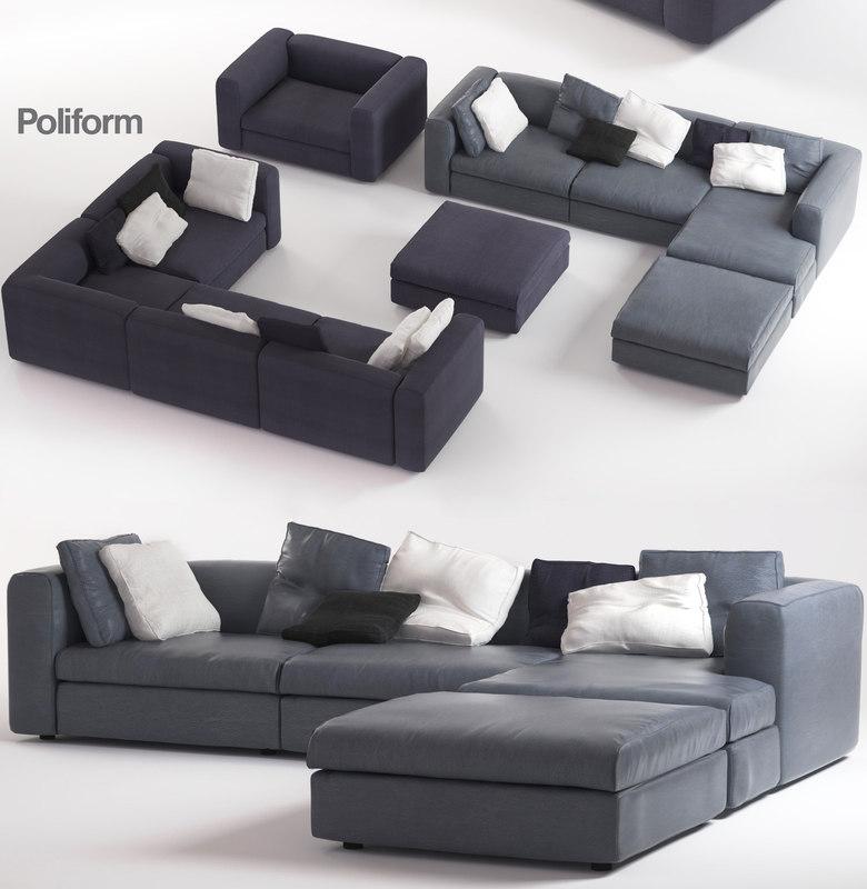 3d poliform dune sofas