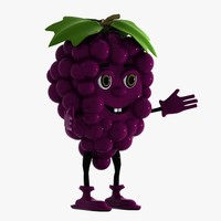 grape character 3d model