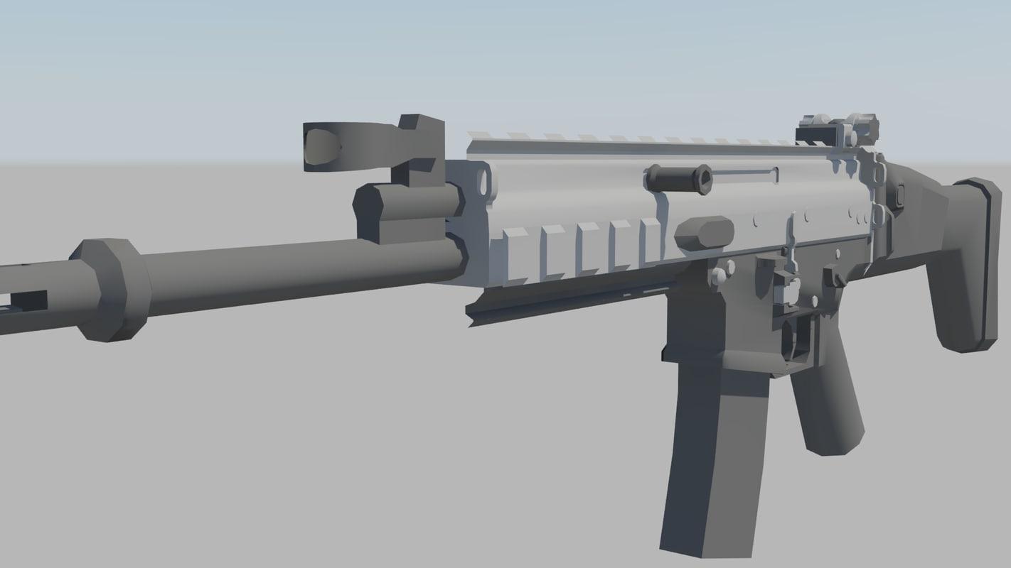 3d scar mw model