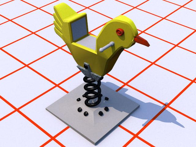 dxf rocking horse chicken