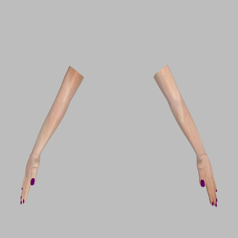 3dsmax realistically woman arms