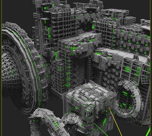 free scifi nexus 3d model