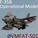 USMC F-35 B Lightning II Operational Model with pilot