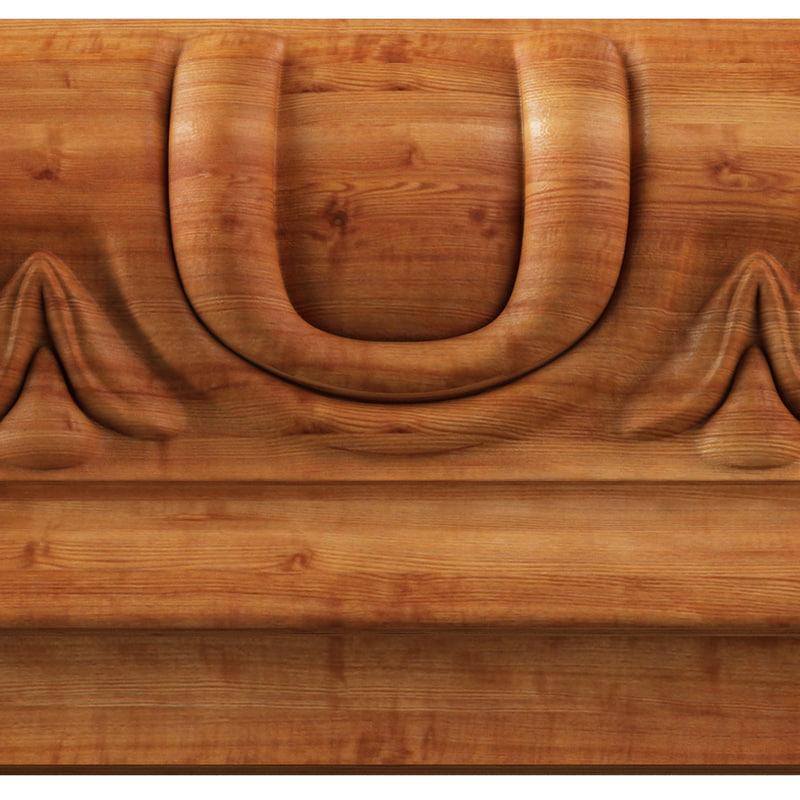 3d carved ad309-0001 model