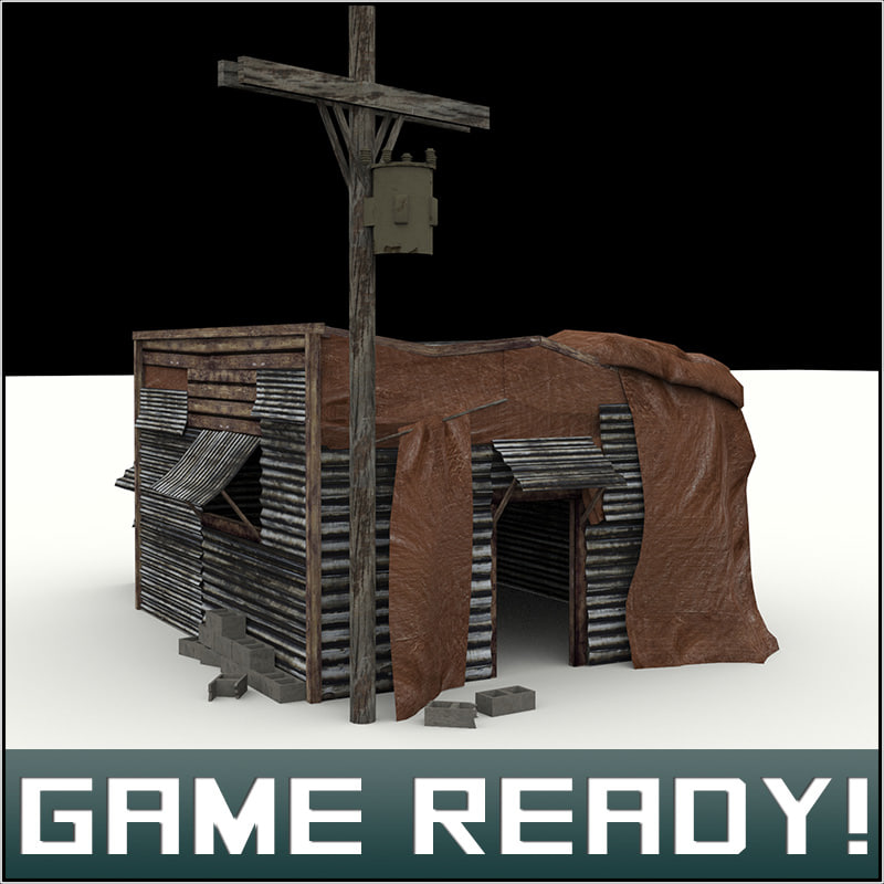 3ds max slums building