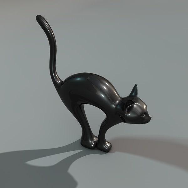 decorative cat c4d