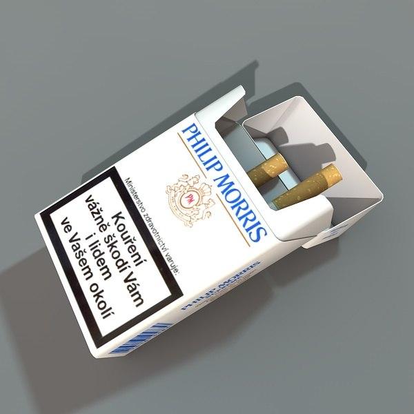 box cigarettes 3d model