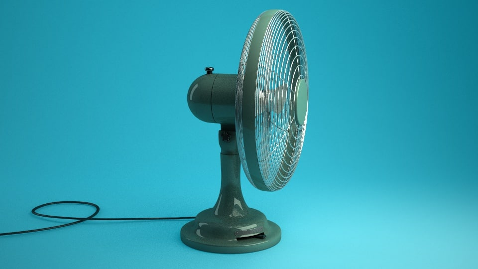 retro table fan 3d model