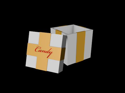 free c4d model gift box candy