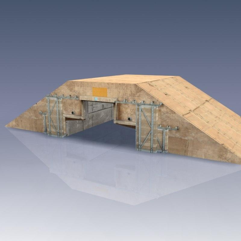 3d hardened craft shelter desert