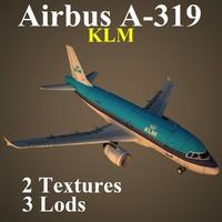 airbus klm 3d model