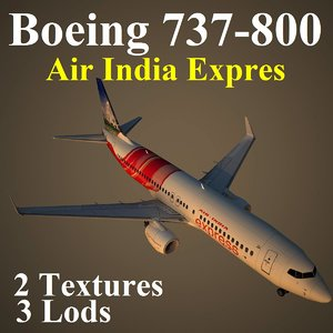 3d boeing 737-800 axb