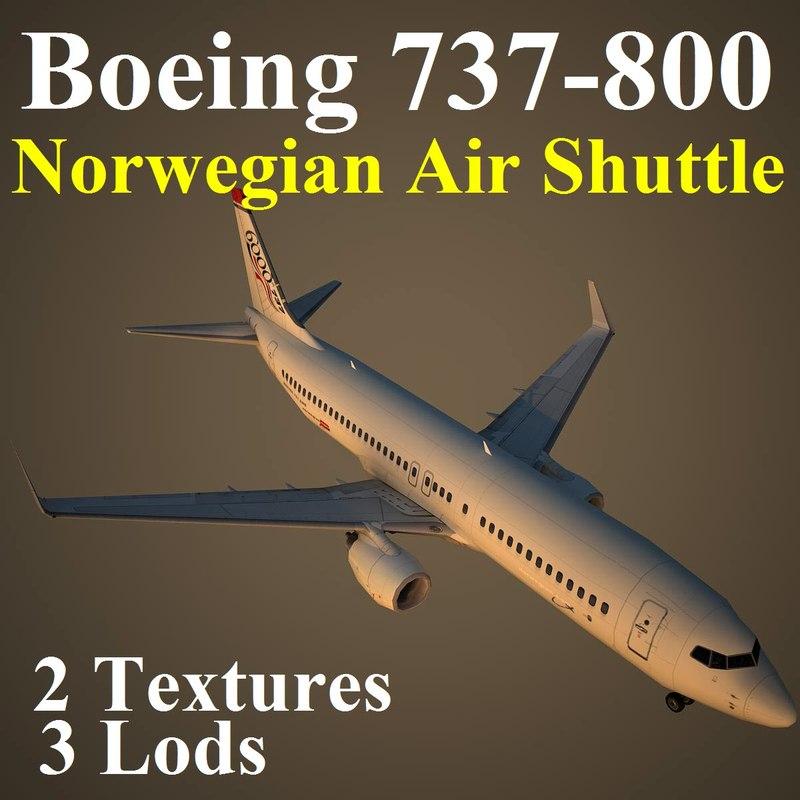 3d boeing 737-800 nax model