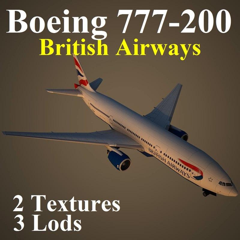 3d boeing 777-200 baw model