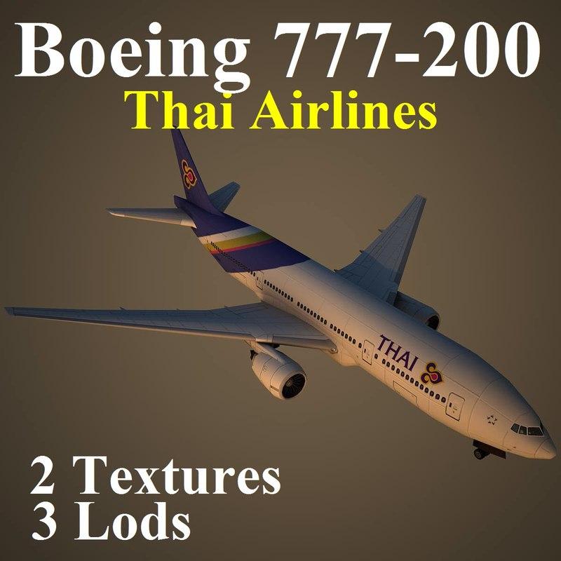 boeing 777-200 tha max