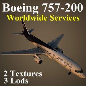 boeing 757-200 ups 3d model
