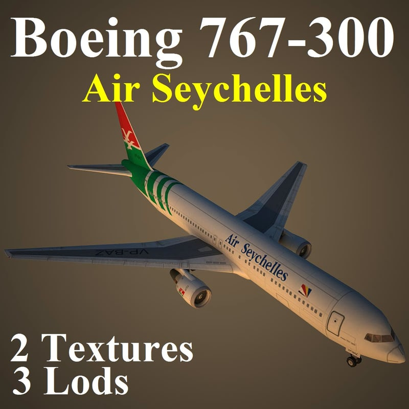 boeing 767-300 sey 3d max
