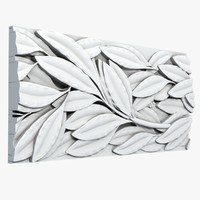 3d model tileable leafs molding